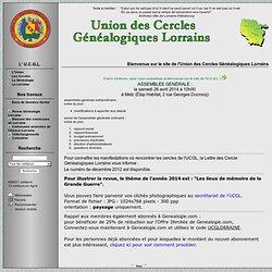 Union des Cercles Généalogiques Lorrains