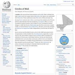 Cercles of Mali