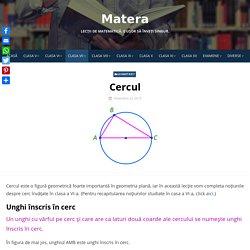 Cercul: Unghi la centru, unghi inscris in cerc, diametru, coarda Lecție video