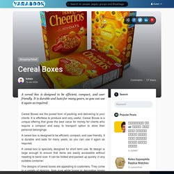 Cereal Boxes