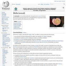 Malta (cereal)