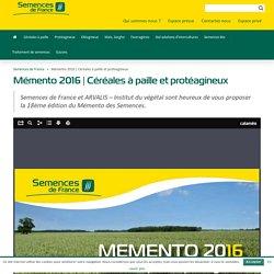 SEMENCES DE FRANCE - Memento 2015.