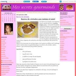 Barres de céréales aux raisins et au miel