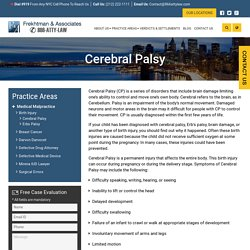 Cerebral Palsy Lawyers in New York State