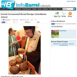 Greek Ceremonial Bread Recipe (Artoklasia Artos)