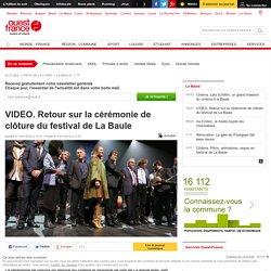 VIDEO. Retour sur la cérémonie de clôture du festival de La Baule