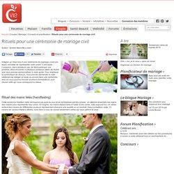 Rituels pour une cérémonie de mariage civil
