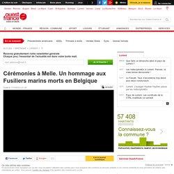 Cérémonies à Melle. Un hommage aux Fusiliers marins morts en Belgique