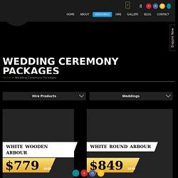 Wedding Ceremony Hire Perth