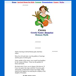 Ceres and her daughter - Ancient Myth for Kids