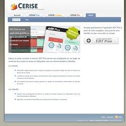 CERISE Collection - CERISE Appli - EDT Prim