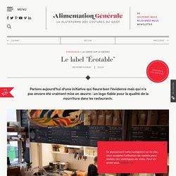 """Cerise sur le gâteau #16 : Le label """"Écotable"""""""
