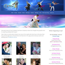 Ceroc Weddings - Ceroc and Modern Jive Dance Company