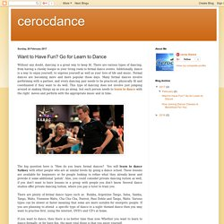 Want to Have Fun? Go for Learn to Dance