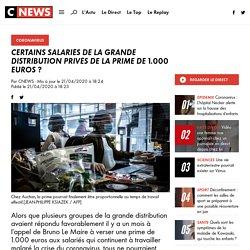 Certains salariés de la grande distribution privés de la prime de 1.000 euros ?