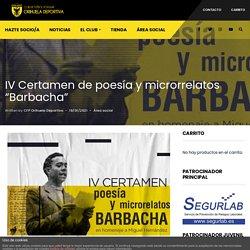 "01/03 IV Certamen de Microrrelatos ""Barbacha"""