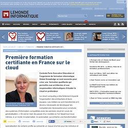 Première formation certifiante en France sur le cloud