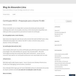 Certificação MSCD – Preparação para o Exame 70-480