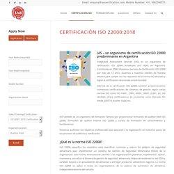Certificacion ISO 22000 Argentina