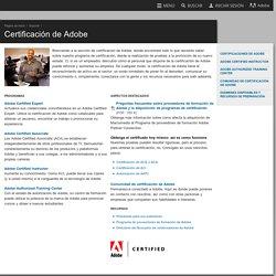 Certificación de Adobe
