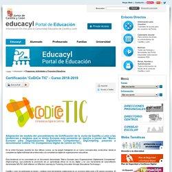 Certificación 'CoDiCe TIC' - Curso 2018-2019