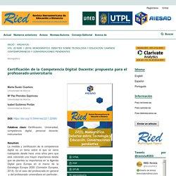 Certificación de la Competencia Digital Docente: propuesta para el profesorado universitario