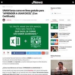 """UNAM lanza curso en línea gratuito para """"APRENDER A USAR EXCEL"""" (Con Certificado) - nosotros-los-contadores"""