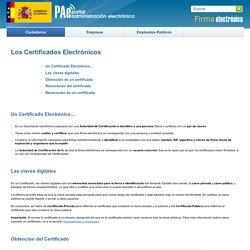 Portal Firma - Los Certificados Electrónicos