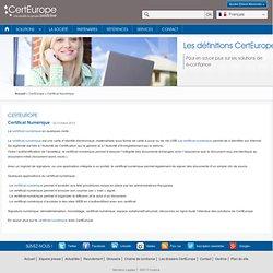 Certificat numérique