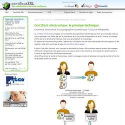 Certificat électronique, le principe technique