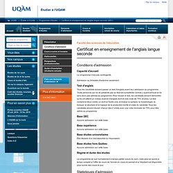 Certificat en enseignement de l'anglais langue seconde (4851
