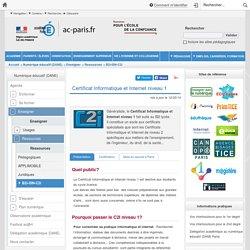 Certificat Informatique et Internet niveau 1
