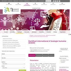 Certificat international d'écologie humaine (CIEH) - Formation - Université de Pau et des Pays de l'Adour (UPPA)
