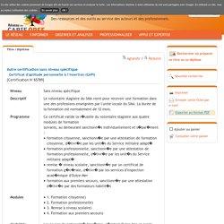 Certificat d'aptitude personnelle à l'insertion (CAPI)