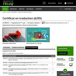 Certificat en traduction (6295)