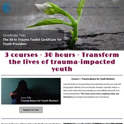 30-Hour Trauma Toolkit Certificate for Youth Providers