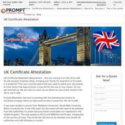 UK Certificate Attestation