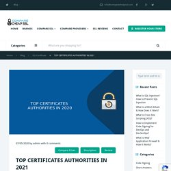 Top 10 Certificate Authorities in 2021 - A Complet List