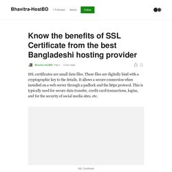 Know the benefits of SSL Certificate from the best Bangladeshi hosting provider