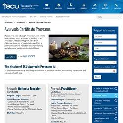 Ayurveda Certificate Programs in Los Angeles