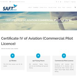 Certificate IV of Aviation (Commercial Pilot Licence)