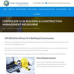 Certificate IV in Building & Construction Management Melbourne