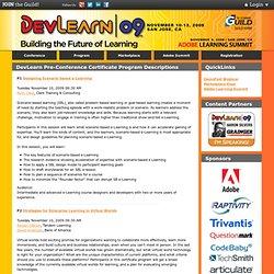 DevLearn 2009 - PreCon Certificate Programs Descriptions#P3