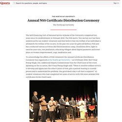 Annual NSS Certificate Distribution Ceremony - The Northcap University - Quora