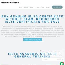 IELTS Certificate - Document Classic