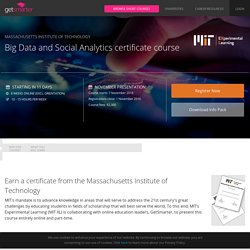 MIT Big Data and Social Analytics Certificate Course