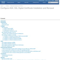 Configure ASA: SSL Digital Certificate Installation and Renewal