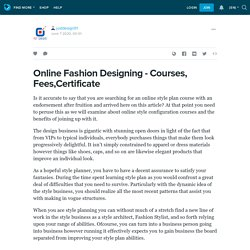 Online Fashion Designing - Courses, Fees,Certificate : justdesign01 — LiveJournal