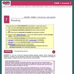 Curso gratuito CAE Certificate in Advanced English, OM Personal English, Aprender ingles gratuito multimedia en Internet