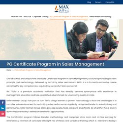 Training Program for Working Professionals